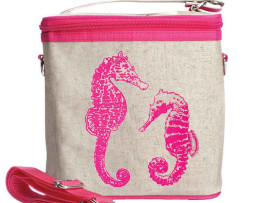 Soyoung Pink Seahorses large cooler bag
