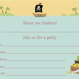 Boatman Geller Invitations ~ Pirate Box Set 1