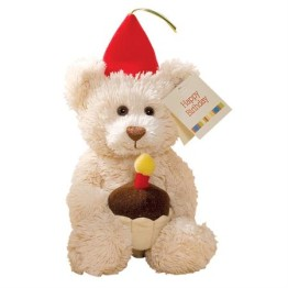 GUND Happy Birthday Bear ~ Cream ~ 23cm 1