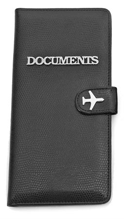Ladies Travel Document Wallet ~ Black 1