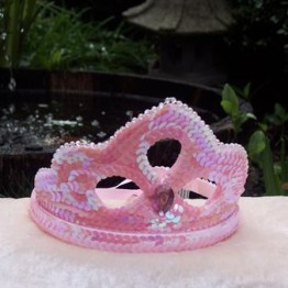 Pink Sequin Crown 1