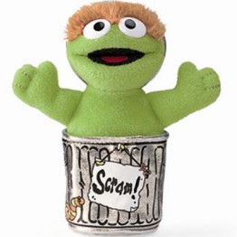 Sesame Street Beanie Toy ~ Oscar the Grouch 1