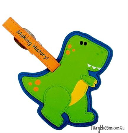 Stephen Joseph Bag Tag ~ Dinosaur 1