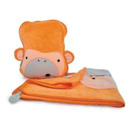 Trunki SnooziHedz 3 in1 Travel Blanket Milo Monkey 1