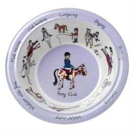 Tyrrell Katz Melamine Bowl ~ Horse Riding 1