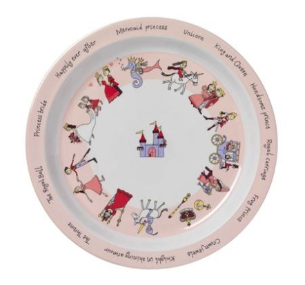 Tyrrell Katz Melamine Plate ~ Princess 1