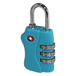 TSA Combination Luggage Lock ~ Cyan Blue 1