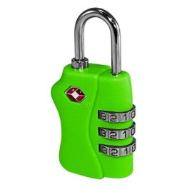 TSA Combination Luggage Lock ~ Neon Green 1