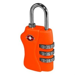 TSA Combination Luggage Lock ~ Neon Orange 1