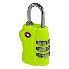 TSA Combination Luggage Lock ~ Neon Yellow 1