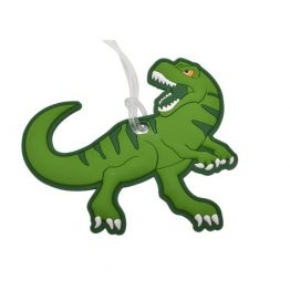 Bobble Art Dinosaur Bag Tag