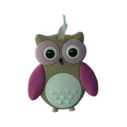 Bobble Art Owl Bag Tag