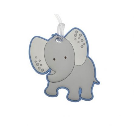 Bobble Art Safari Elephant Bag Tag