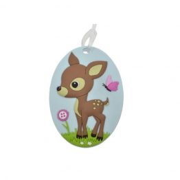 Bobble Art Woodland Bag Tag