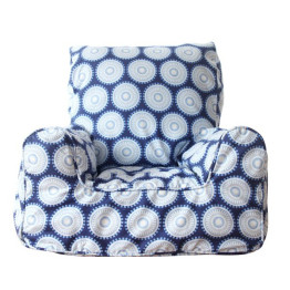 Lelbys Navy Freckle Bean Chair