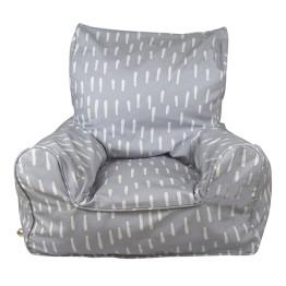Lelbys Grey Raindrops Bean Chair