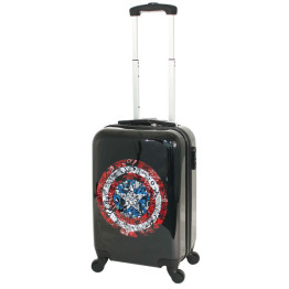 Marvel Captain America Cabin Luggage Black