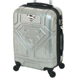 Superman Cabin Luggage Silver 2