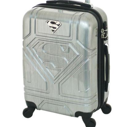 Superman Cabin Luggage Silver 2
