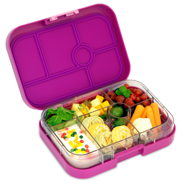bento yumbox original leakproof lunch box bijoux purple kids bags. Black Bedroom Furniture Sets. Home Design Ideas