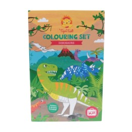 Tiger Tribe Dinosaur Colouring Set