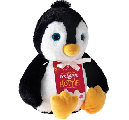 aroma home penguin-snuggable-hottie