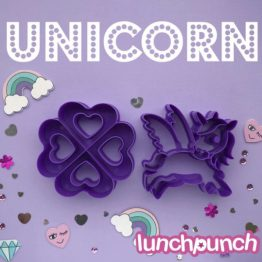 Lunch Punch Pairs Sandwich Cutters Unicorn