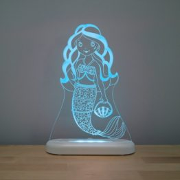 Aloka Mermaid LED Sleepy Light USB Night Light