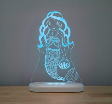 Aloka Mermaid LED Sleepy Light USB Night Light