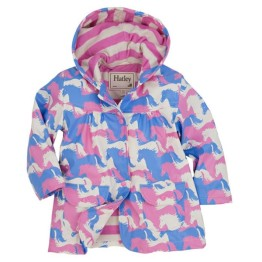Hatley Girls Raincoat Puzzle Piece Horses