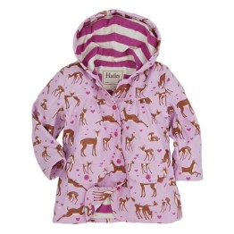 Hatley Girls Raincoat Soft Deers