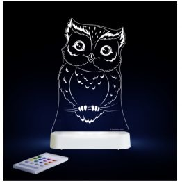 Aloka Owl LED Sleepy Light USB Night Light with Remote