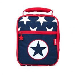 Penny Scallan Navy Star Bento Box Lunch Cooler Bag