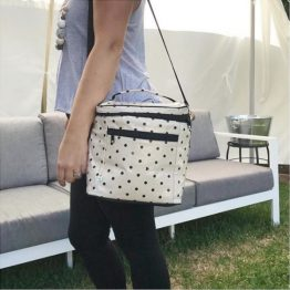 Apple & Mint Polka Dot Cooler Bag