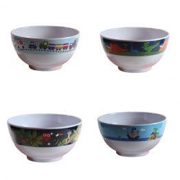 Bobble Art Boys Melamine Bowls