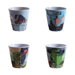 Bobble Art Melamine Boys Cup Set