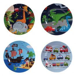 Bobble Art Melamine Boys Plates Set