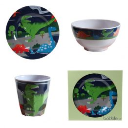 Bobble Art Dinosaur Melamine Gift Set
