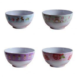 Bobble Art Girls Melamine Bowls