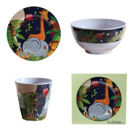 Bobble Art Jungle Melamine Gift Set
