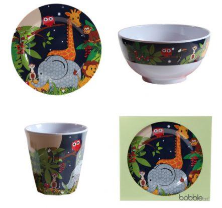 Bobble Art Jungle Melamine Gift Set
