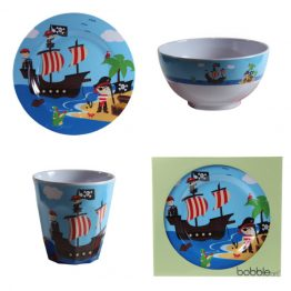 Bobble Art Pirate Melamine Gift Set
