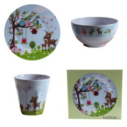 Bobble Art Woodland Melamine Gift Set
