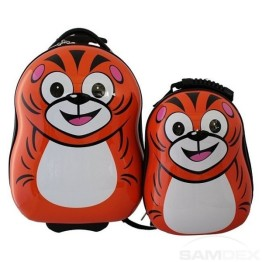 Cuties & Pals Tiger Suitcase & Backpack Luggage Set
