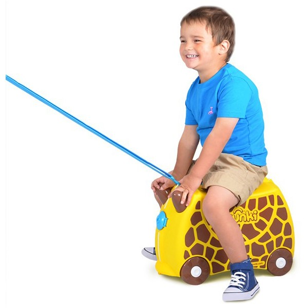 Trunki Kids Ride On Suitcase Gerry Giraffe - Kids Bags