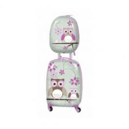 Bobble Art Hard Shell Luggage Set - Owl