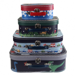 Bobble Art Boys Suitcase Storage Set