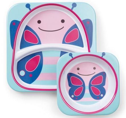 Skip Hop Butterfly Melamine Set