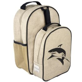 SoYoung Black Shark Toddler Backpack & Lunch Box Set