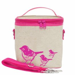 SoYoung Pink Birds Large Cooler Bag
